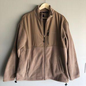 Chaps Beige Fleece 1/4 Zip Up Jacket